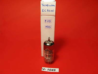 1x EC8010 Telefunken, NOS, 15° Ring-Getter, goldpins, Top Werte