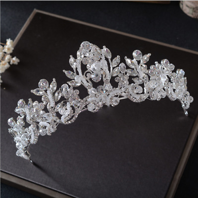 5.5cm High Clear CZ Crystal Large Wedding Bridal Party Pageant Prom Tiara Crown