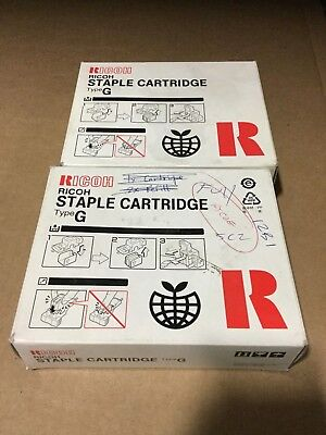 2 Genuine Ricoh Staple Cartridges Type G / 410133 - P8B2