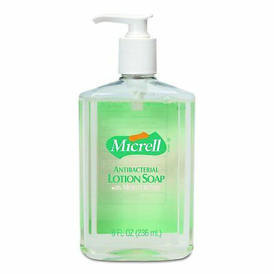 GOJO 975212CT MICRELL Antibacterial Lotion Soap, Light Scent, 8 Oz Pump, 12 Ct