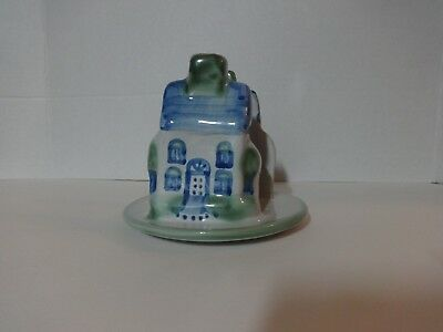 M.A. Hadley Pottery - House Pattern Napkin Holder Letter Louisville Kentucky EUC