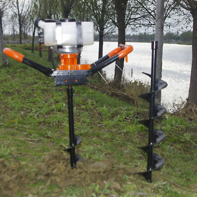 52cc Hole Digger Power Engine Post Earth Auger Tool Machine Give 3 bits of bit