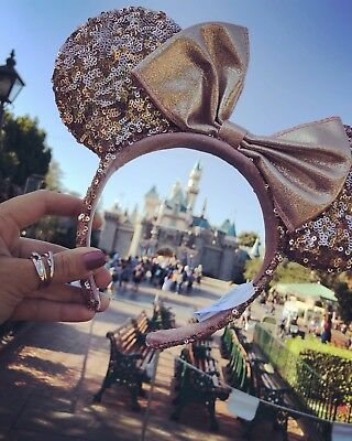 Disney Parks Rose Gold Minnie Mouse Ears
