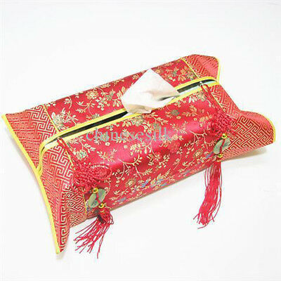 Silk Tissue Box Cover Wrap Brocade Decoration Budget Gift Present Birthday Xmas