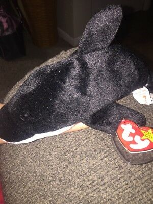 0500146112a TY BEANIE BABY - SPLASH the Whale (4th Gen hang tag) (8 inch) -MWMTs ...