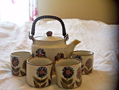 Vintage Otagiri Made In Japan Teapot With 4 Cups