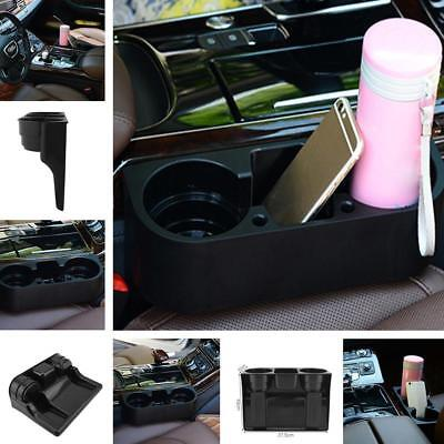 3 in 1 Car Seat Seam Wedge Dual Cup Drink Holder Mount Stand Storage Organizer a