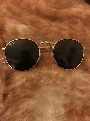 3aef4c43296 Ray-Ban 50mm Round Metal Gold Framed Sunglasses - Green (RB344700150)