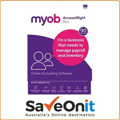 MYOB AccountRight Plus 90 Days trial subscription Accounting - Email License