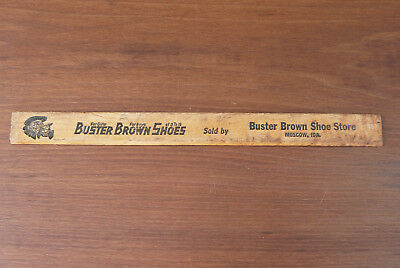Vintage Buster Brown Wood Ruler Advertising Buster Brown Shoe Store Moscow Idaho