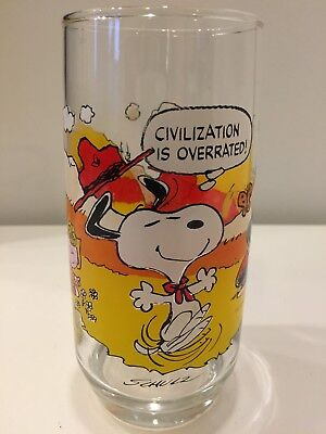Vintage 1971 McDonald's Peanuts Camp Snoopy Collection Glass