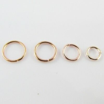 Bulk Rose Gold Jump Rings Open Jumprings Findings Craft Select size