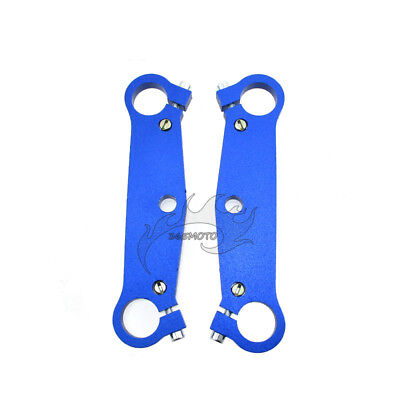 Blue Mini Pocket Bike Triple Tree Fork Plate Parts For 47cc 49cc MTA1 MTA2 Cags