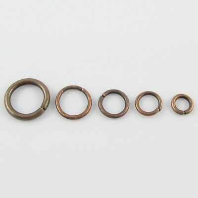 Bulk Red Copper Jump Rings Open Jumprings Findings Craft Select size
