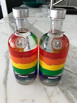 2 x Absolut Rainbow 700ml Sold as One Lot - Brand New - Unopened