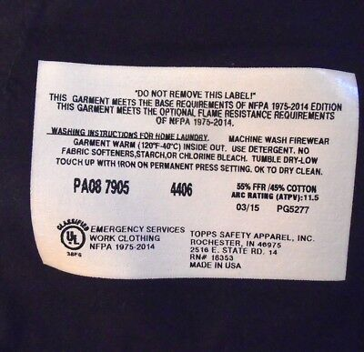 TOPPS Safety Apparel FR Fire Resistant Work Pants Mens Size 44 x 32 EUC Blue 2