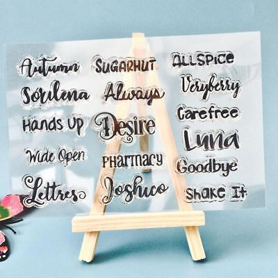 Words Silicone Rubber Clear Stamp Seal Scrapbooking Photo Album Card Decors DIY