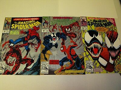 Amazing Spider-Man 361 Silver Reprint 362 Silver Reprint And 363 1St Print Venom