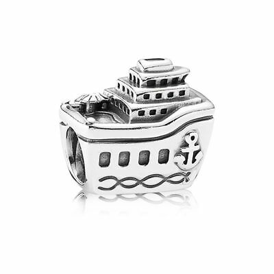 Authentic Genuine Pandora Silver All Aboard Cruise Ship bead 791043