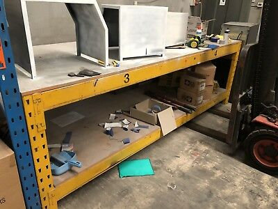 Work Bench Steel With Lower Shelf. Huge And Super Strong. 2 Left!