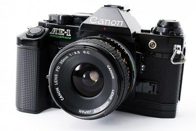 Excellent++ Canon AE-1 PROGRAM 35mm SLR Kamera w/ 35mm f/3.5 Objektiv aus Japan