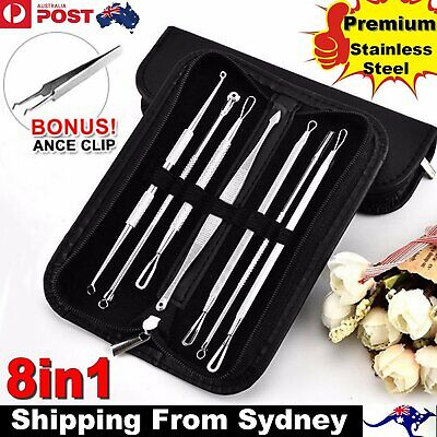 7Pcs Set Blackhead Remover Comedone Blemish Pimple Extractor Tool Kit Acne Clip