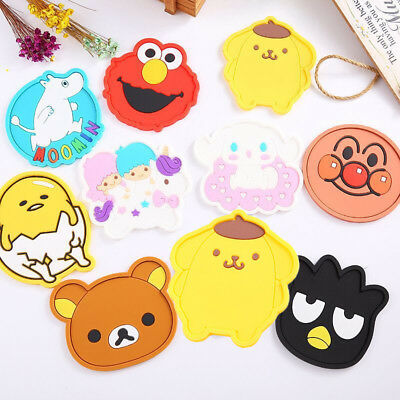 Cartoon Coasters Silicone Placemat Cushion Mug Tableware Cup Tea Pad Mat 8 Style