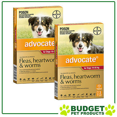Advocate For Dogs Large Red 10-25kg 9 DOSES