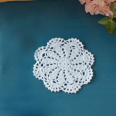 Retro Doily Coasters Doilies Table Mat Handmade Crochet Cotton Placemat 5.9inch