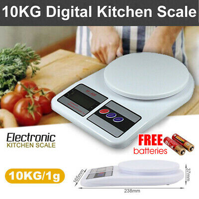 LCD Electronic Digital Kitchen Weighing Postal Household Scale Food Cooking 10kg