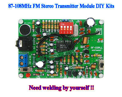 87-108MHz FM Stereo Transmitter Module DIY Kit MP3 Repeater Radio Station DIY