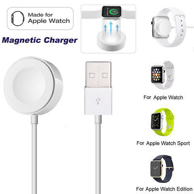 Magnetic Charging Dock Charger Pad 2M Cable For 38/42mm Apple Watch iWatch 2 3