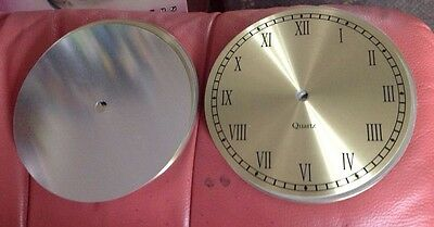 100 x 15cm spun brass aluminuim clock dial MISPRINTS numerals are incorrect NEW