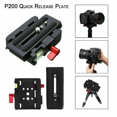 Quick Release QR Plate Clamp Adapter Base For Manfrotto 500 AH 701 503 HDV 577
