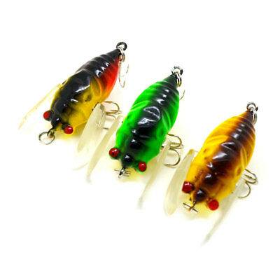 Cicada Floating Tackle Lures Outdoor Bass Fishing Emulation Crank Bait