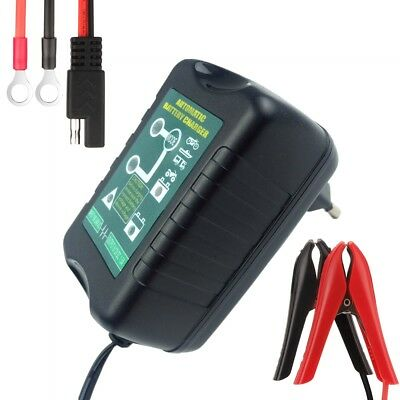 6V/12V 1.5Amp Smart Motorcycle Ebike Car Battery Charger for Lead Acid Batteries
