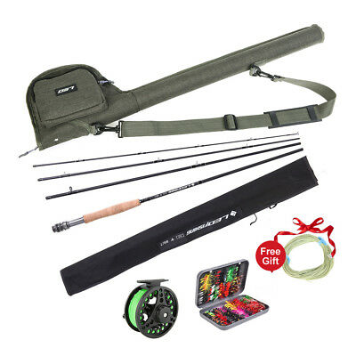Fly Fishing Set Fishing Rod and Reel Rod Combo with Flies Fly Fishing Line Set