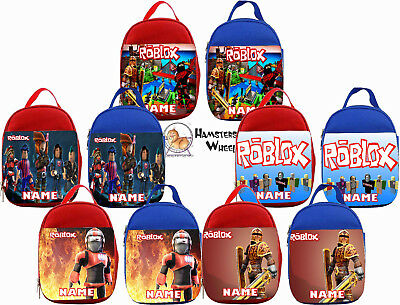 ROBLOX PERSONALISED LUNCH BAG - Choice of Red or Blue