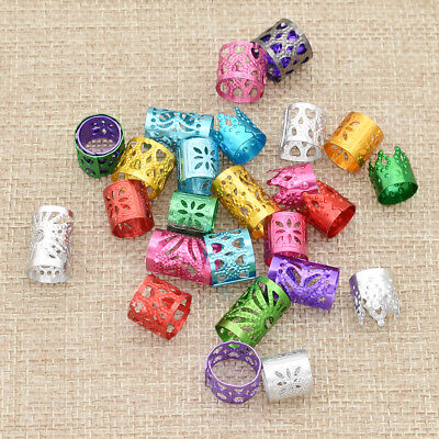 Dreadlock Hair Beads Hollow Rings For Braiding Aluminum Jewelry Accessories