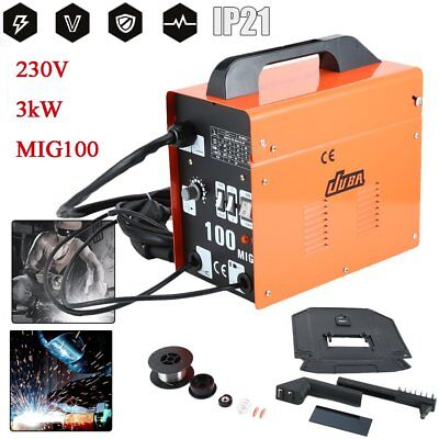 MIG 100 Portable Gas-Shielded Welder 240v No Gas Welding Gasless 100A 100 Amps