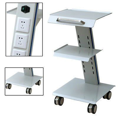Medical Trolley Cart Mobile Cart for Dental Equipment All Purpose Cart  3 Layers