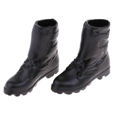 1:6 Scale Female Soldier Ankle Boots Black for 12'' Figures Phicen Kumik Toy
