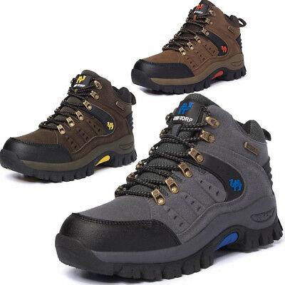Mens Womens Hiking Boots Walking Lace Up Trail Trekking Trainers Outdoor Shoes