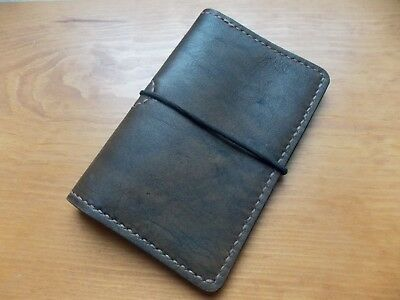 Leather Field Notes Style / Travel Journal Cover Wallet Handmade New