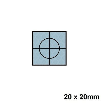 Silver Retro Reflective Targets 20 x 20mm Packs Of 20 Surveying Prism Station