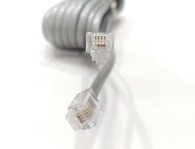 20 FT Feet RJ11 4C/4 Wire Modular Telephone Extension Cord Cable Line Wire Grey