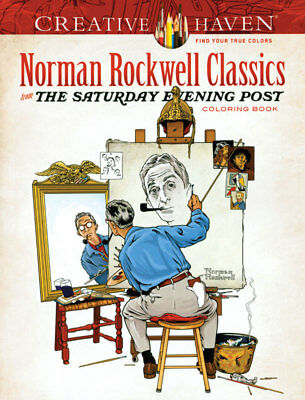 NORMAN ROCKWELL CLASSICS Nostalgic Coloring Book for Adults and Children