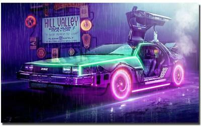 Back To The Future Classic Movie Art Silk Poster 8x12 24x36 24x43