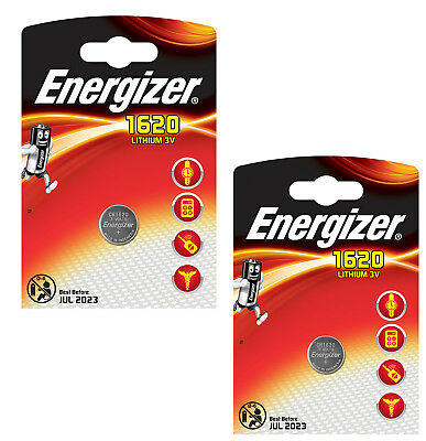 Genuine Energizer 2X 1620 Cr1620 3V Lithium Coin Cell Battery - Dl1620 Kcr1620
