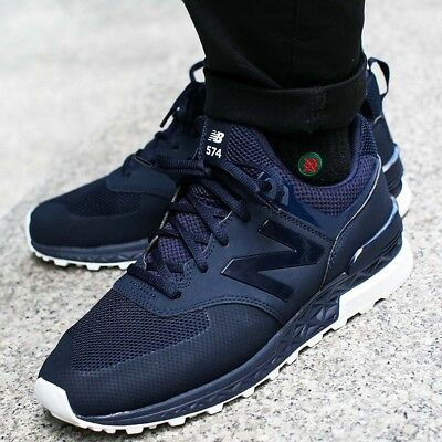 reputable site dadb6 cafa3 NEW BALANCE MEN Shoes MS574SNV Sport Classic Running Sneaker - Navy  Blue/White